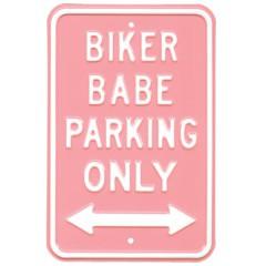 Biker Babe Parking