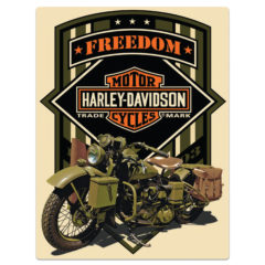 H-D ® FREEDOM GREEN SIGN