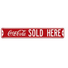 Coke® Sold Here Embossed Steel
