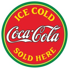 Coca Cola metal signs