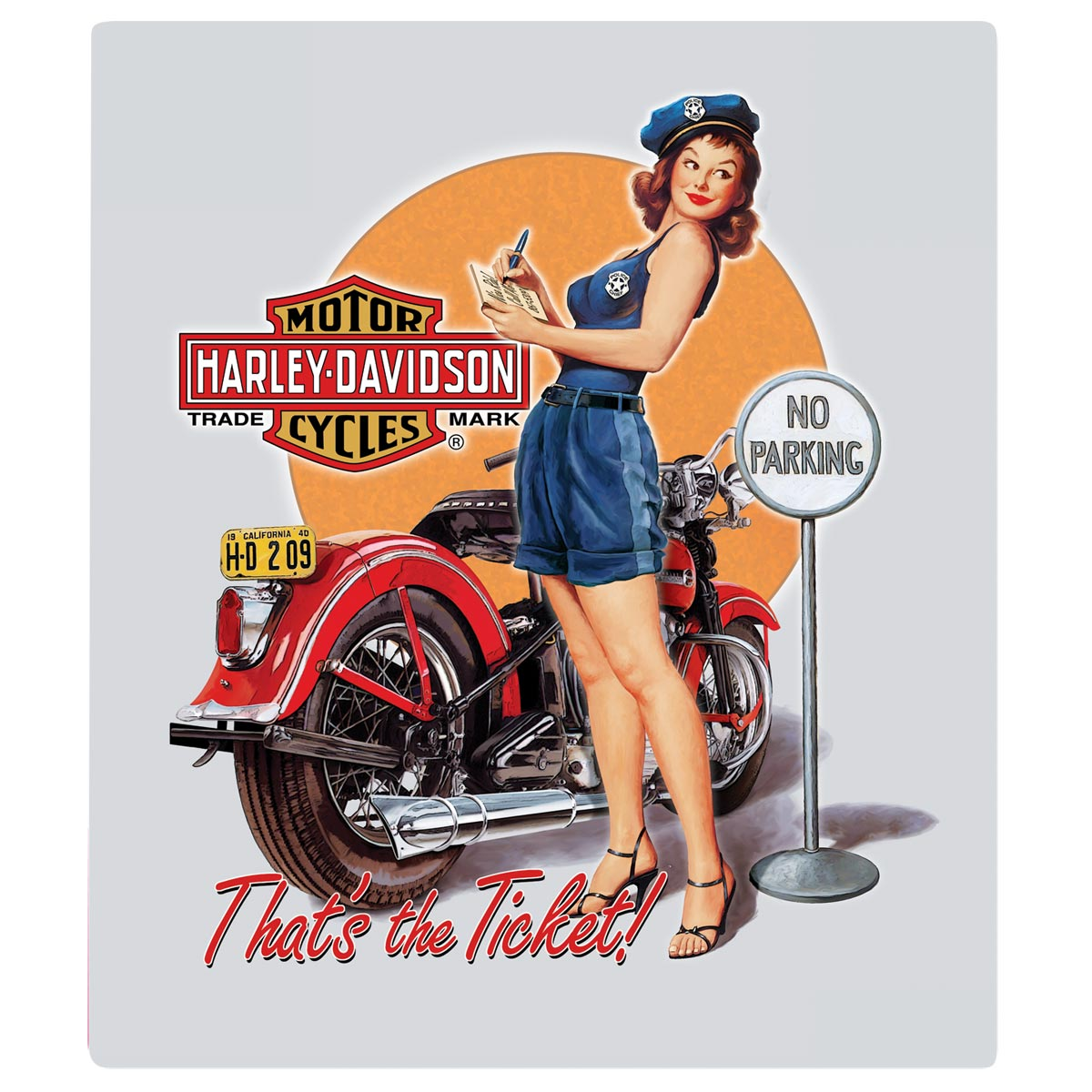 Babe Hd h-d® ticket babe embossed – ande rooney sign collection